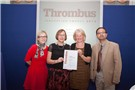 The team from Manchester Royal Infirmary receive their certificate for their highly commended project